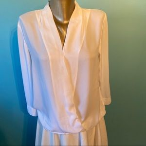Kenneth Cole wrap blouse